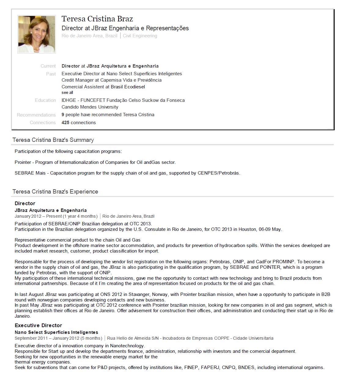 April 2013 – JBraz Engenharia e Consultoria Internacional