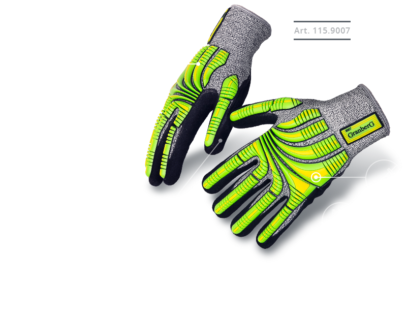 Luvas Granberg-Mãos protegidas em todos os setores da Industria. Em Breve emPortugal.